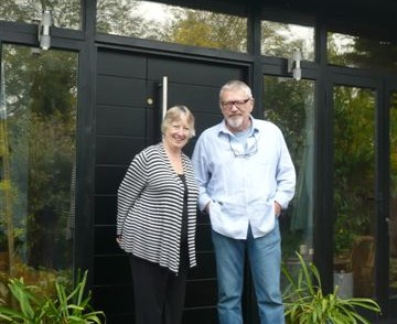 Owners Lucy Craig and Gordon Best outside their home